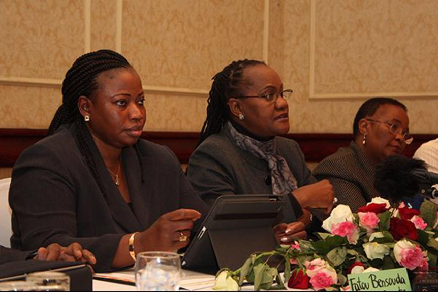Fatou Bensouda and Athaliah Molokomme at the International Media Conference, July 4 - 15, 2011 at the Gaborone Sun Hotel in Gaborone, Botswana.