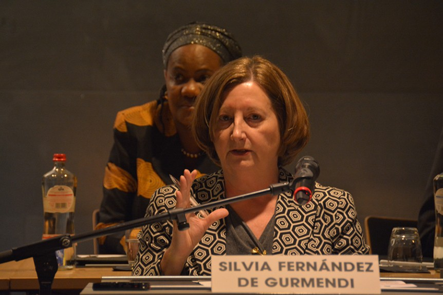 ICC President Judge Silvia Fernandez welcomes the launch of the Africa Group for Justice and Accountability in The Hague. Photo: Kris Kotarski, Wayamo Foundation.