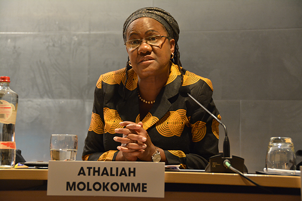 Africa Group member and Attorney General of Botswana Athaliah Molokomme. Photo: Kris Kotarski, Wayamo Foundation.