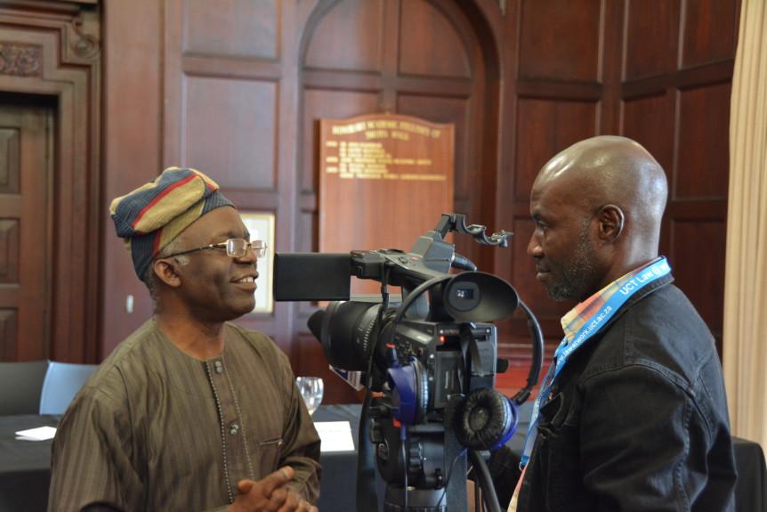AGJA Member Femi Falana interviewed by Nigerian journalist