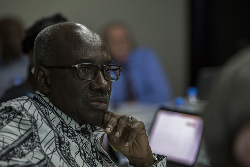 Hassan Bubacar Jallow, former Prosecutor at the International Criminal Tribunal for Rwanda and International Residual Mechanism for Criminal Tribunals and member of the Africa Group for Justice and Accountability. Photo by Matt Rhodes, Wayamo.