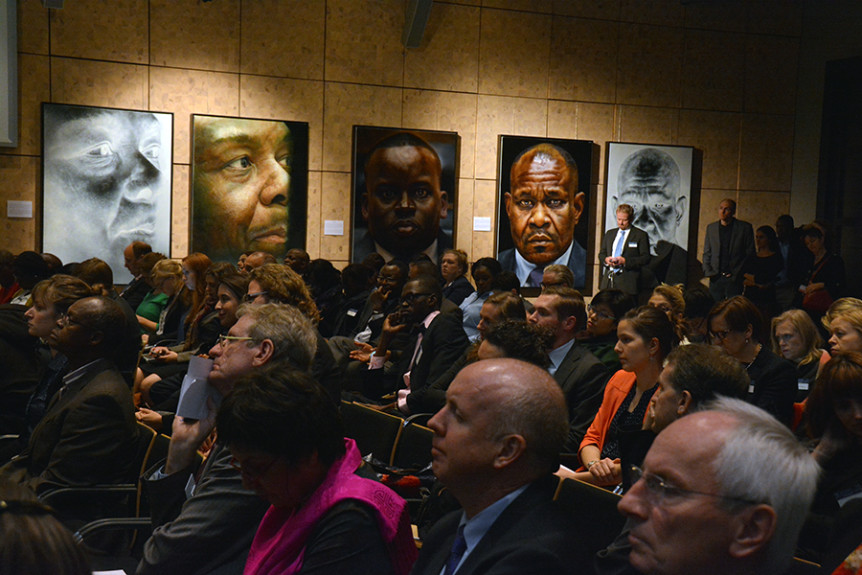 "Audience at the 21 November 2016 event ""Through the looking glass – Imagining the future of international criminal justice"" held on the sidelines of the 2016 International Criminal Court Assembly of States Parties in The Hague, Netherlands. Photo by Kris Kotarski."