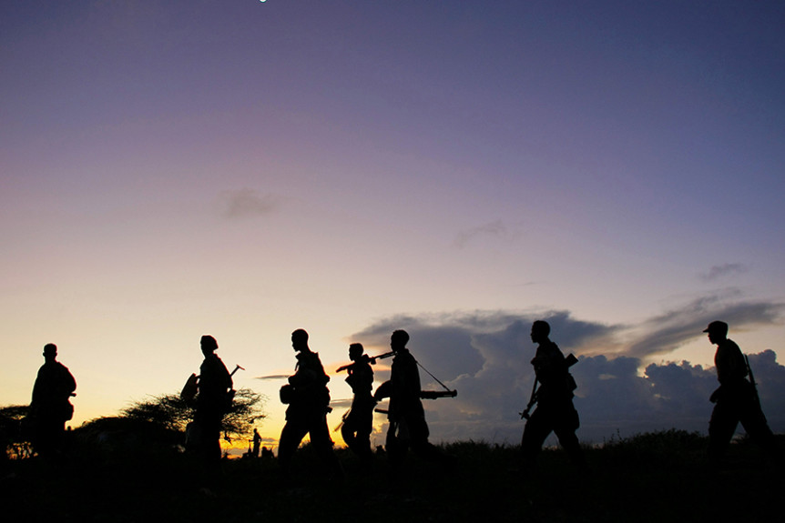 Troops Advance during anti-Shabaab operation in Somalia. Photo: UN Photo, Stuart Price.