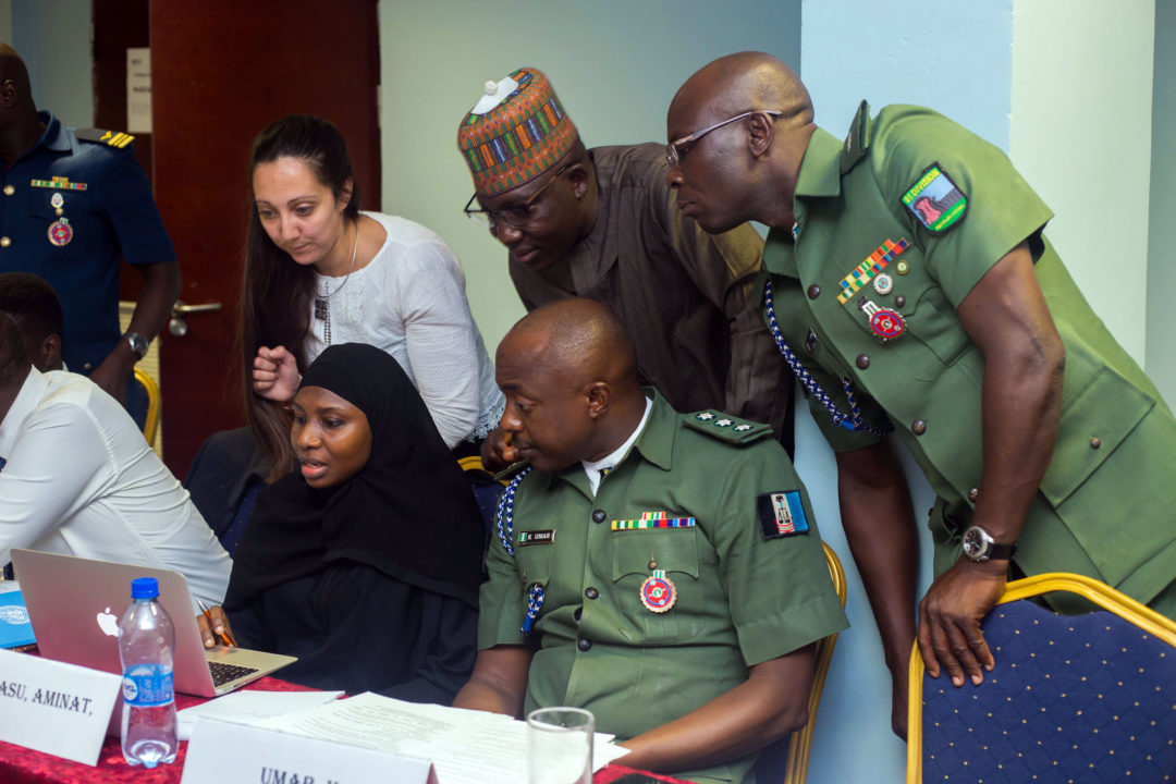 Nigeria workshop with military prosecutors.